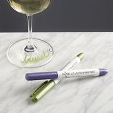 Crate & Barrel Set of 2 Wine Glass Writers