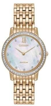 Citizen Silhouette Crystal Stainless Steel Bracelet Watch