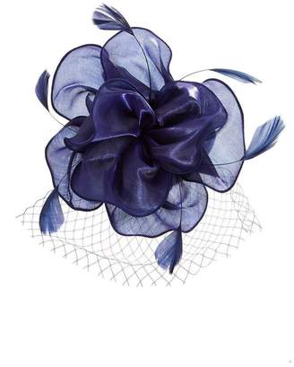Quiz Navy Floral Net Fascinator