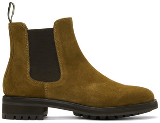 Polo Ralph Lauren Brown Suede Bryson Chelsea Boots