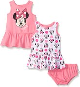 Disney Baby Minnie Mouse 2 Pack Sundress Set, Multiple, 3-6 Months