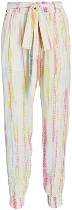 HEMANT AND NANDITA Lurex Tie-Dyed Joggers