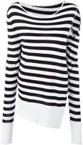 MM6 MAISON MARGIELA slit sleeve striped pullover