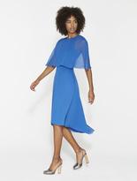 Halston Flowy Chiffon Dress