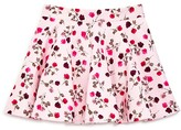 Kate Spade Girls' Ponte Knit Rose Print Circle Skirt - Sizes 7-14