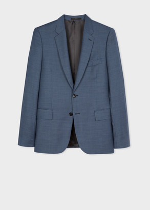 Paul Smith The Soho - Tailored-Fit Blue Micro-Check Wool Blazer