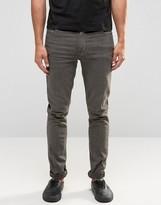 Asos Skinny Jeans In Oil Wash Grey