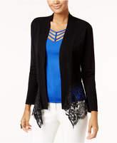 Thalia Sodi Lace-Hem Cardigan, Created for Macy's