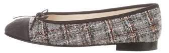 Chanel Cap-Toe Tweed Flats