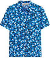 Marni Printed Cotton-poplin Shirt - Blue