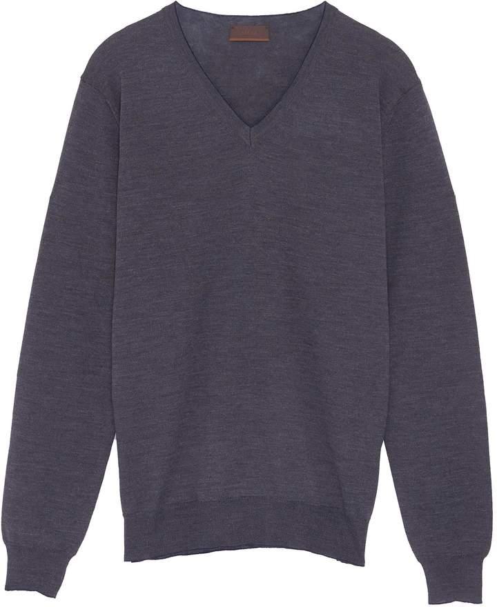 Altea Contrast elbow patch virgin wool sweater