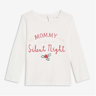 Joe Fresh Baby Girls' Graphic Tee, Off White (Size 18-24)