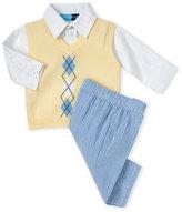 Good Lad Infant Boys) 3-Piece Argyle Vest & Seersucker Pants Set