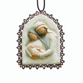 Willow Tree Holy Family Metal Edged Ornament by Susan Lordi