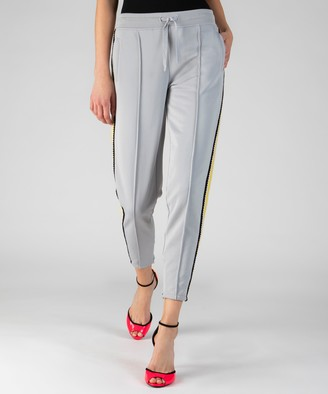 Atm French Terry Crochet Trim Pull-On Pants - Grey Fog