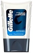 Gillette After Shave Lotion, Sensitive Skin, 2.5 Ounce (Pack of 6)