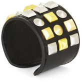 BCBGMAXAZRIA Studded Faux-Leather Cuff