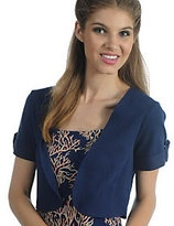 As Is Liz Claiborne New York Knit Shrug with Roll Tab Detail
