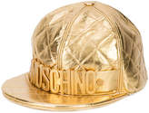 Moschino logo quilted baseball cap