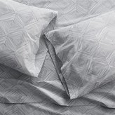 Crate & Barrel Torben Grey Sheets and Pillow Cases