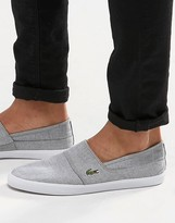 Lacoste Marice Chambray Slip On Sneakers