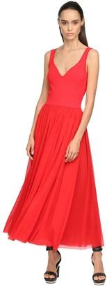 Alexander McQueen Viscose Jersey Knit Midi Dress