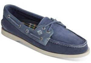 Sperry Men's Authentic Original 2-Eye Garment Wash Boat Shoes Men's Shoes