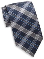 Saks Fifth Avenue Two-Tone Plaid Silk Tie