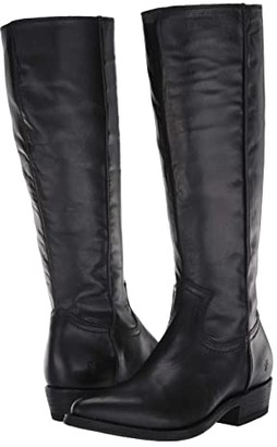 Frye Billy Inside Zip Tall (Black Full Grain Leather) Women's Boots