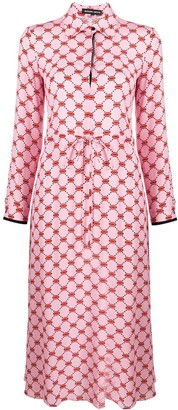Markus Lupfer Lips-print shirt dress