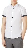 Topman Men's Dot Cuff Shirt