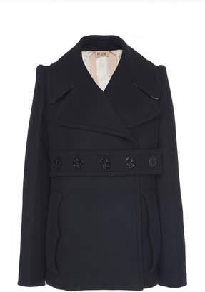 N°21 Janis Wool-Blend Peacoat Size: 48