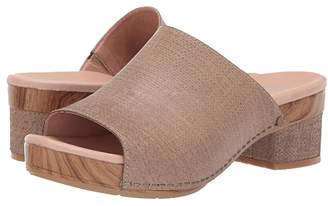 Dansko Maci (Taupe Textured Leather) Women's Sandals