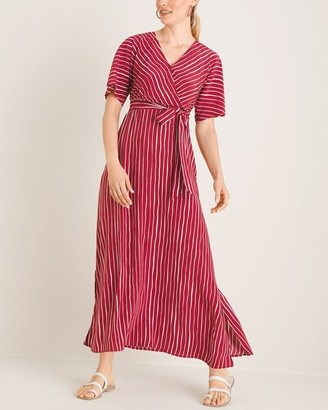 Chico's Short-Sleeve Kimono Maxi Dress