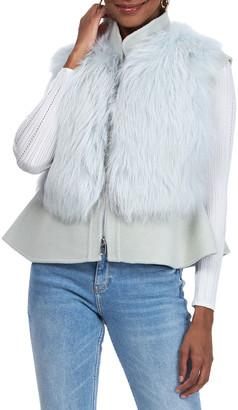 Gorski Wool Fox Fur Peplum Vest