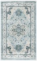Blue Area Derlmer Rug Charlton Home Rug Size: Rectangle 3' x 5'
