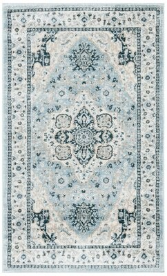 Blue Area Derlmer Rug Charlton Home Rug Size: Rectangle 3' x 5'