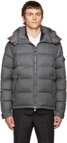 Moncler Grey Down Mongenevre Jacket