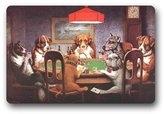 SENL Doormats Dogs Playing Poker A Friend In Need Custom Doormat (23.6x15.7 inch)