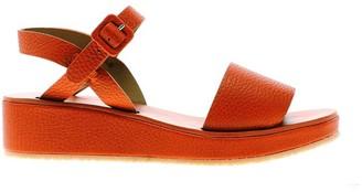 Tracey Neuls - Barbara Tangerine | Orange Leather Strap Sandals - 36