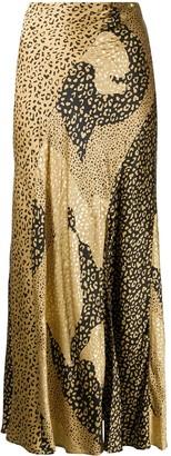 Rixo Leopard Print Maxi Skirt