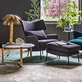 Graham and Green Joseph Armchair And Footstool