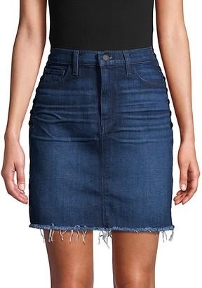 Hudson Lulu Lace-Up Side Denim Skirt