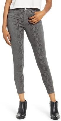 STS Blue Ellie Snake Print High Rise Ankle Skinny Jeans