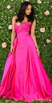 Jovani Strapless Sweetheart Ruched Overlay Evening Dress