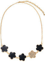 Jardin Black Embellished Clover Necklace