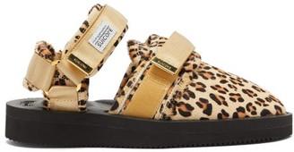 Suicoke Nots Vhl Leopart-print Calf-hair Loafers - Leopard