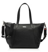 Storksak Infant Noa Leather Diaper Bag - Black
