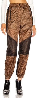 R 13 Track Pant in Leopard   FWRD