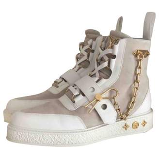 Louis Vuitton Creeper White Leather Boots